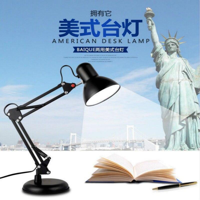Beducht De. Soul Powerlbo Metalen Clip Bureaulamp Met Swing Arm Metalen Clip Klem Tafellamp Voor Student Lezen Kantoor Slaapkamer