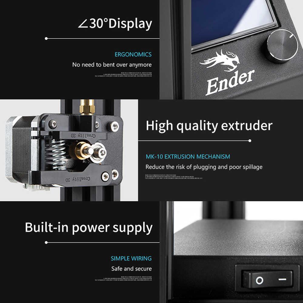 كرياليتي طابعة ثلاثية الأبعاد كرياليتي Ender-5 مع قوة مستقرة Landy ، لوحة بناء cالمغناطيسي ، السلطة قبالة استئناف + خيوط ثلاثية الأبعاد + Hotbed + SD