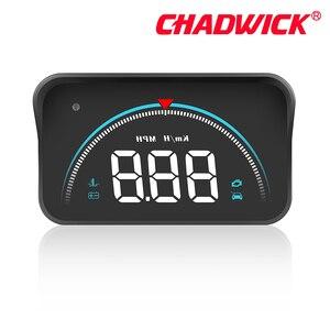 Image 4 - Carro hud cabeça up display de condução dados no pára brisa dianteiro chadwick m8 informações de condução instantaneamente velocidade, rpm, água temperat
