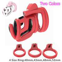 2019 New Resin Male Chastity Device Colorful Cock Cage With 4 Size Penis Ring Adult Bondage Chastity Belt