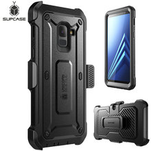 SUPCASE For Galaxy A8 Plus 2018 Case UB Pro Full Body Rugged Holster Cover with Built in Screen Protector For Galaxy A8+ 2018