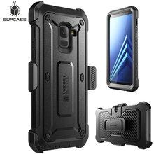 SUPCASE funda protectora de pantalla para Galaxy A8 Plus 2018, carcasa de cuerpo completo UB Pro, funda resistente con Protector de pantalla incorporado para Galaxy A8 + 2018