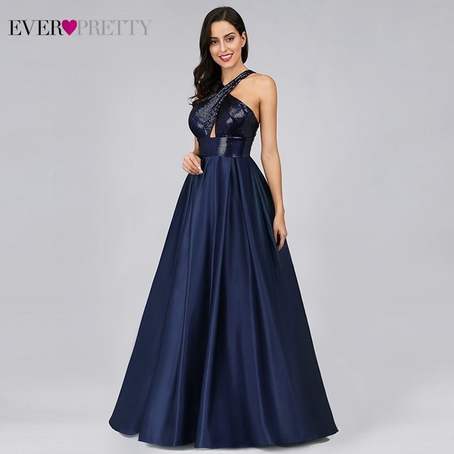Prom Dresses Long Ever Pretty Sexy Backless Sleeveless Sequined Formal Dresses EP07858NB Elegant Party Gowns Robe De Bal Fille 3