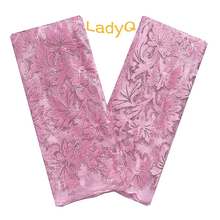 Aso Ebi 2019 Tulle Lace Fabrics Baby Pink High Quality African Lace Fabric with Sequence Velvet Materials Nigerian Lace Fabric цена