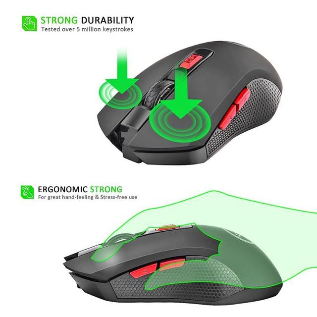 2.4GHz Wireless Gaming Mouse 2400DPI 6 buttons with rollers Comfort Gamer Mice for Computer Desktop Laptop 4