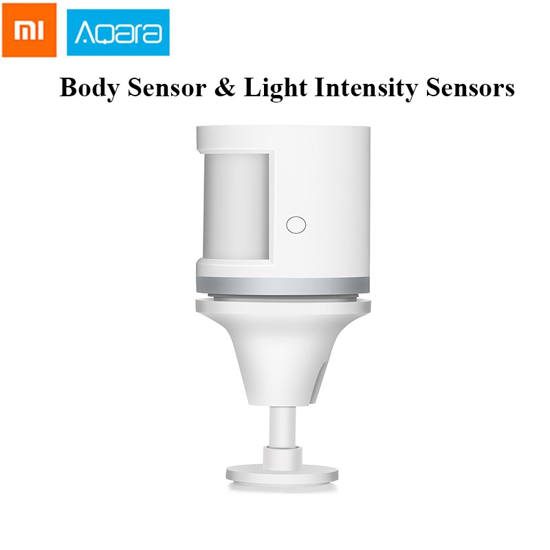 Aqara Human Body Sensor & Light Intensity Sensors Smart Movement Motion Sensor Zigbee wifi Wireless Work for Mi home APP-in Building Automation from Security & Protection