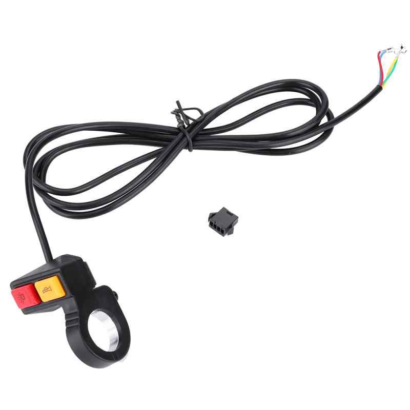 Electric Bike 2 in 1 Head Light Horn Switch Turn Signal Switch Button for Motorcycle E-Bike Electric Scooter Accessories