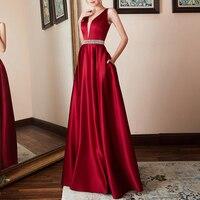 plus size S~3XL Women Formal dresses ladies Long Banquet Party Prom Sleeveless backless pockets slim A line Dress vestido longo