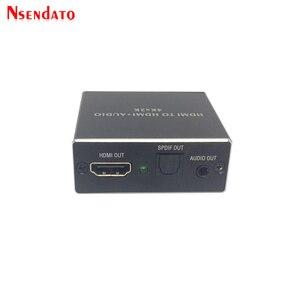 Image 4 - 4K x 2K HDMI vers HDMI + Audio 3.5mm convertisseur stéréo 5.1 canaux optique SPDIF Audio extracteur adaptateur séparateur pour PS4 HDTV STB PC