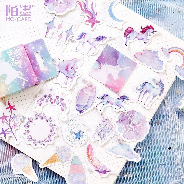 45PCS/box New Lovely Lucky Horse Paper Lable Sealing Stickers Crafts Scrapbooking Decorative Lifelog DIY Stationery Sticker