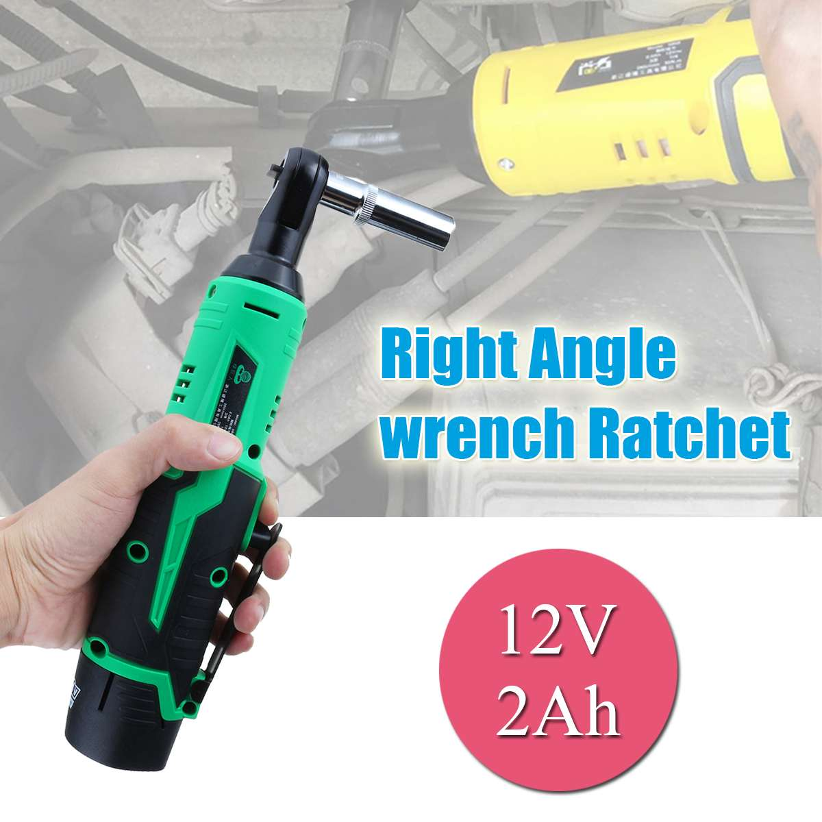 12V Electric Ratchet Wrench 35NM Torque 3/8 inch Cordless Wrench 2000mAh Rechargeable Lithium Battery Car Repair Power Tools12V Electric Ratchet Wrench 35NM Torque 3/8 inch Cordless Wrench 2000mAh Rechargeable Lithium Battery Car Repair Power Tools