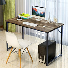 Modern Computer Stand Home Student Study/Writing Table Strong Bearing Simple Office Desk Scratch Resistant MDF+Steel(China)