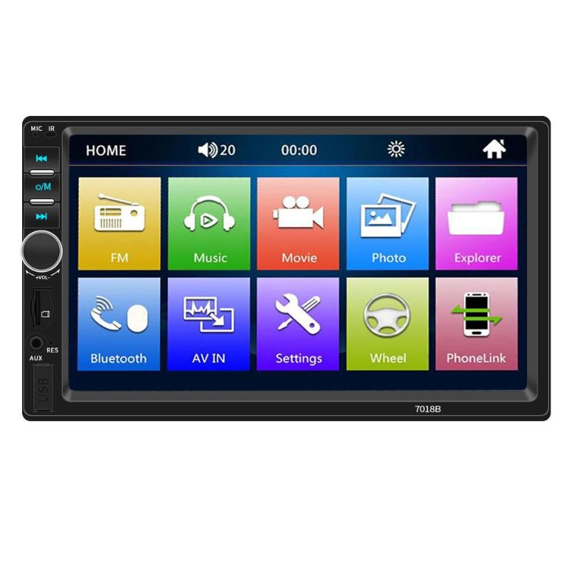 Car Radio 7 Inch Dash Auto Audio MP5 Player Bluetooth 1080P Car Rear View Support Android iPhone Interconnection