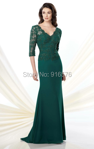 Hunter Green Mother of the Bride Dresses
