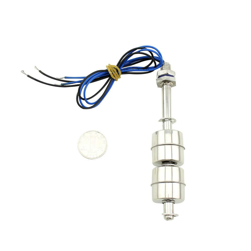 100 mm Sensor de Nivel de Agua,0~220V Interruptor de Flotador Verticales de Flujo de Agua L/íquido de Acero Inoxidable de Baja Presi/ón