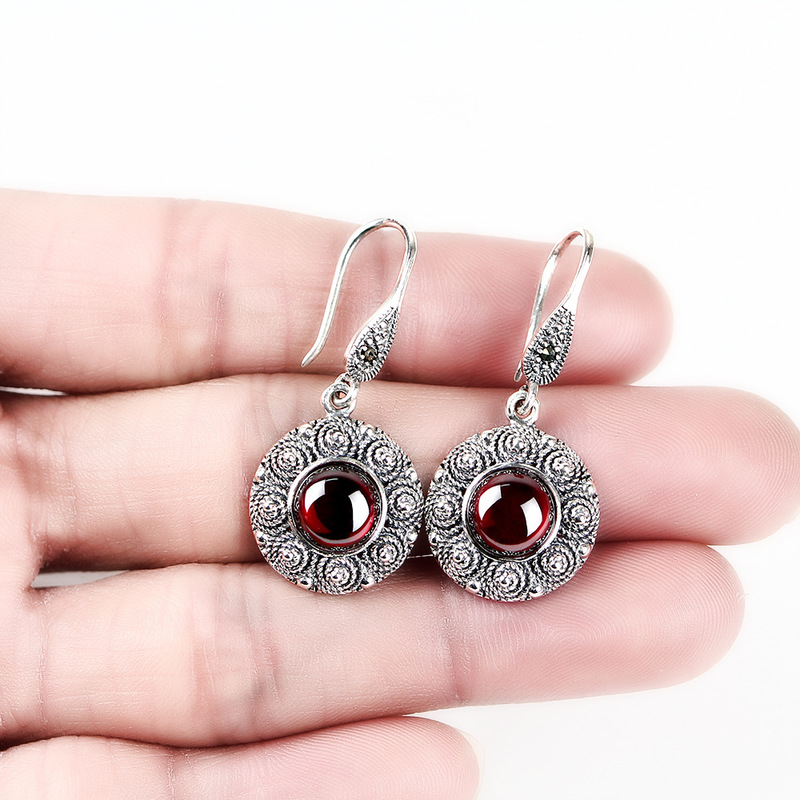 2018 Top Fashion Sale Brincos Oorbellen 925 Sterling Earrings Mark The Thai Earring Jewelry Wholesale Speed Sell Tong
