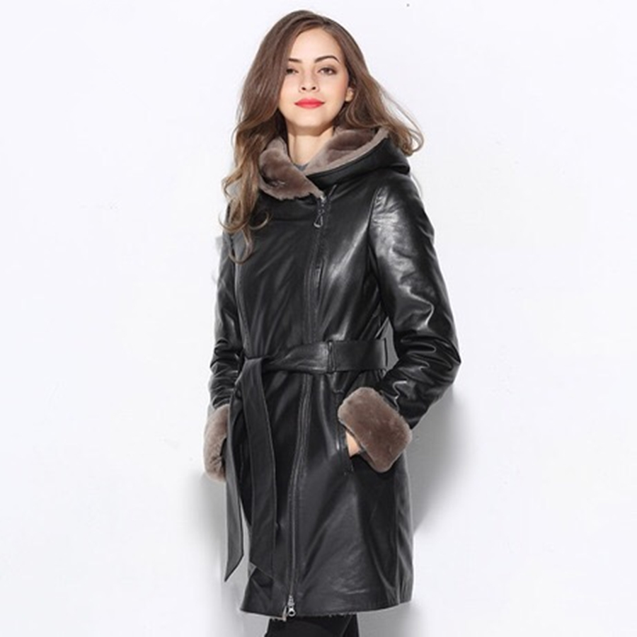 Мех и шерсть Австралийская овчина двусторонний натуральный мех пальто для женщин