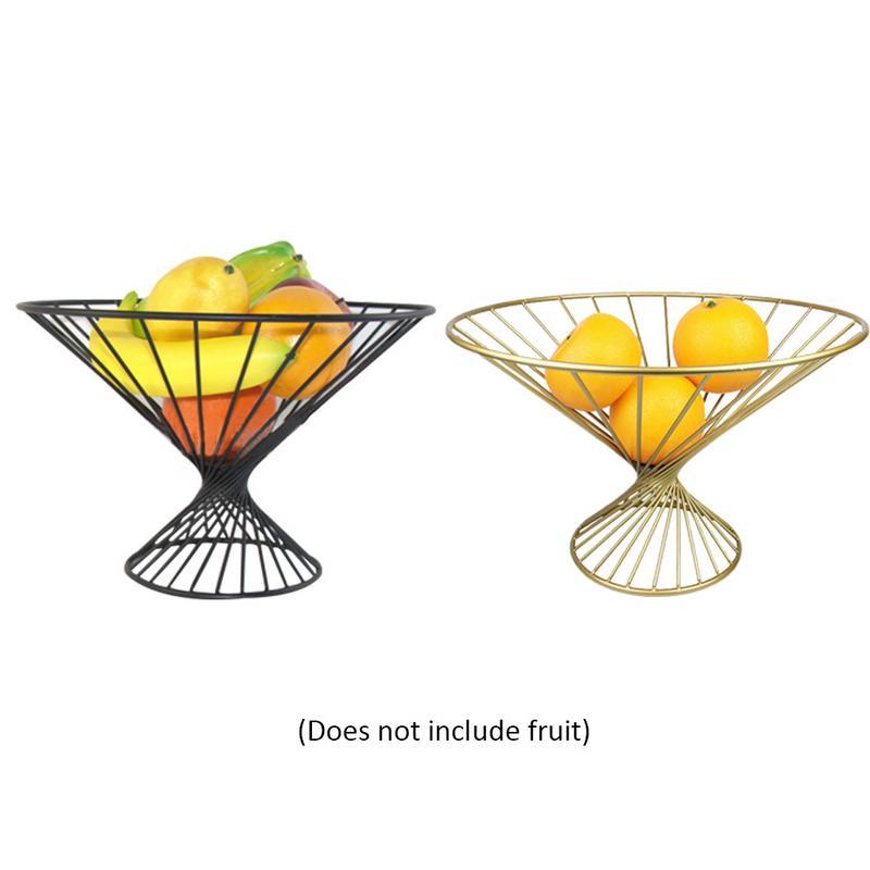 Fashion Simple Innovative Metal Fruit Basket Stand Fruit Bowl Fruit Basket Tray For Living Room /Household /Bread Basket /Decor