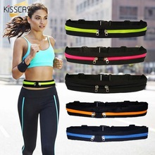 KISSCASE Outdoor Running Waist Bag Waterproof Mobile Phone Holder Jogging Belt Belly Men Women Gym Fitness Sport Accessories