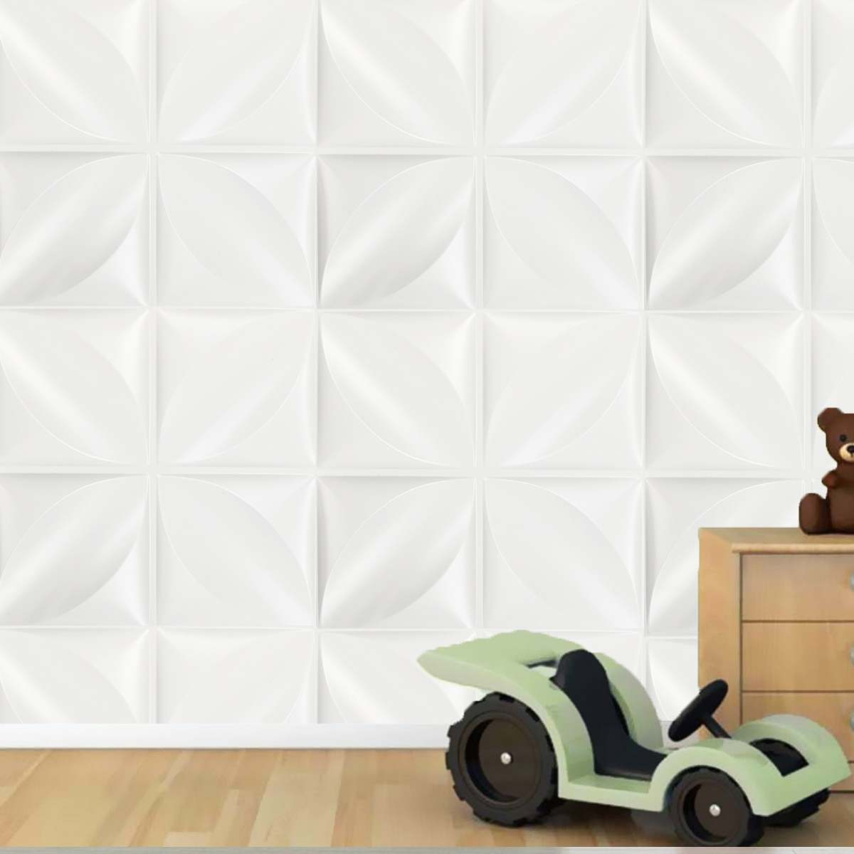32 pieds carrés 12 Pcs Panneau Mural DIY Fond À Peindre Couverture Autocollant Stickers Muraux 3D Diamant Motif De Mariage Décoration Cuisine 50x50