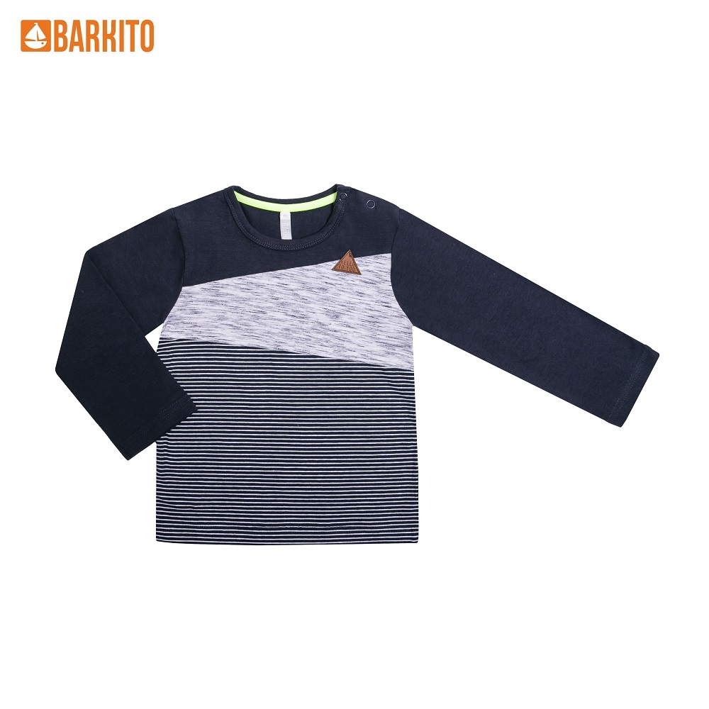 Sweaters Barkito 339007 children clothing Cotton 32A-30477KOR Blue Boys Casual t shirts barkito 339006 children clothing cotton 32a 30475kor yellow boys casual