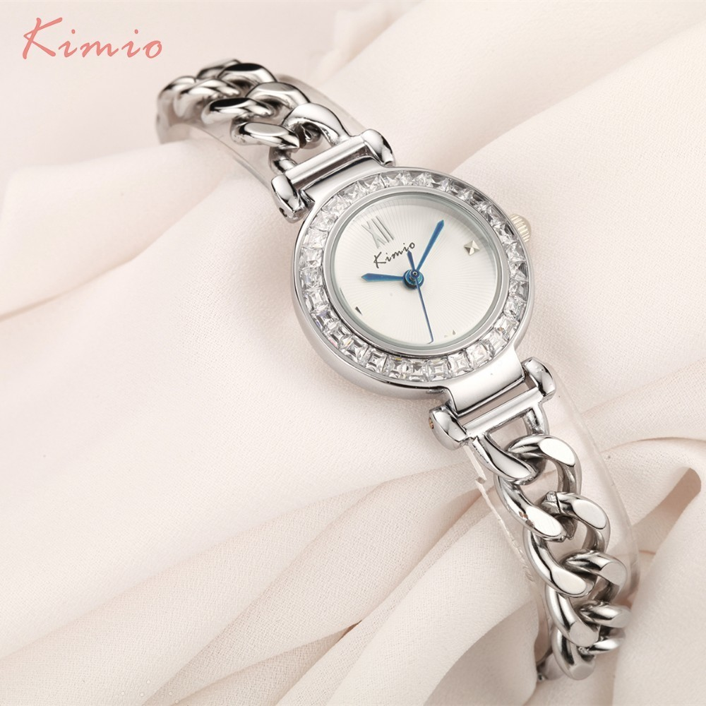 KIMIO Exquisite Zircon Small Dial Hand Chain Bracelet Watch Strap Rose Gold Quartz Watch Women Clock Womens Watches Top BrandKIMIO Exquisite Zircon Small Dial Hand Chain Bracelet Watch Strap Rose Gold Quartz Watch Women Clock Womens Watches Top Brand