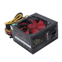 170 260V Max 600W Power Supply Psu Pfc Red 12Cm Silent Fan 24Pin 12V Pc Computer Sata Gaming Pc Power Supply For Intel For Amd