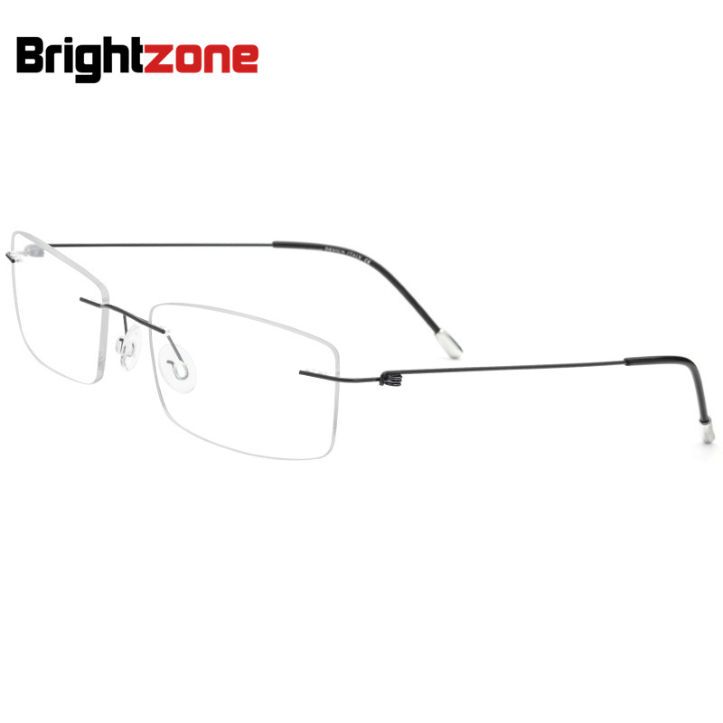 02f1266a6 Super-leve Sem Aro Não-parafuso de Silicone Conector Duplo Miopia  Espetáculo Óculos de