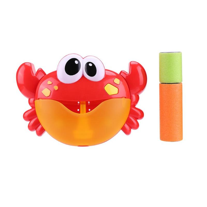 Crab Bubble Machine Pleasant Music Bubble Maker Baby Children Bath Shower Bathroom Fun Toys With Water