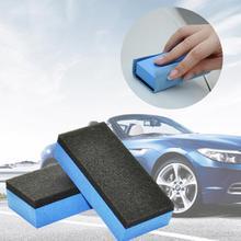 Polerowanie samochodów aplikator blok z gąbki do płynnej powłoka szklana wodoodporna powłoka Pad silikonowy płaszcz kwarcowy Glasscoat gąbka