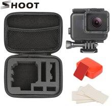 Shoot suporte de câmera para gopro hero, conjunto de capa impermeável de 45m para gopro hero 7 6 5, câmera esportiva preta, acessórios de mergulho para gopro câmera de ação 7 6 5