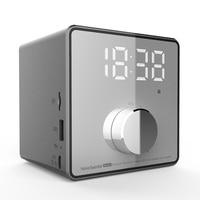 LEORY Mini Alarm Clock bluetooth Recording Repeater Speaker Shock Bass HIFI Music Player Support FM TF USB