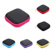Portable Mini Square EVA Case Headset Bluetooth Earphone Cable accessory Storage Box Case Carrying Pouch Bag SD Card Holder(China)