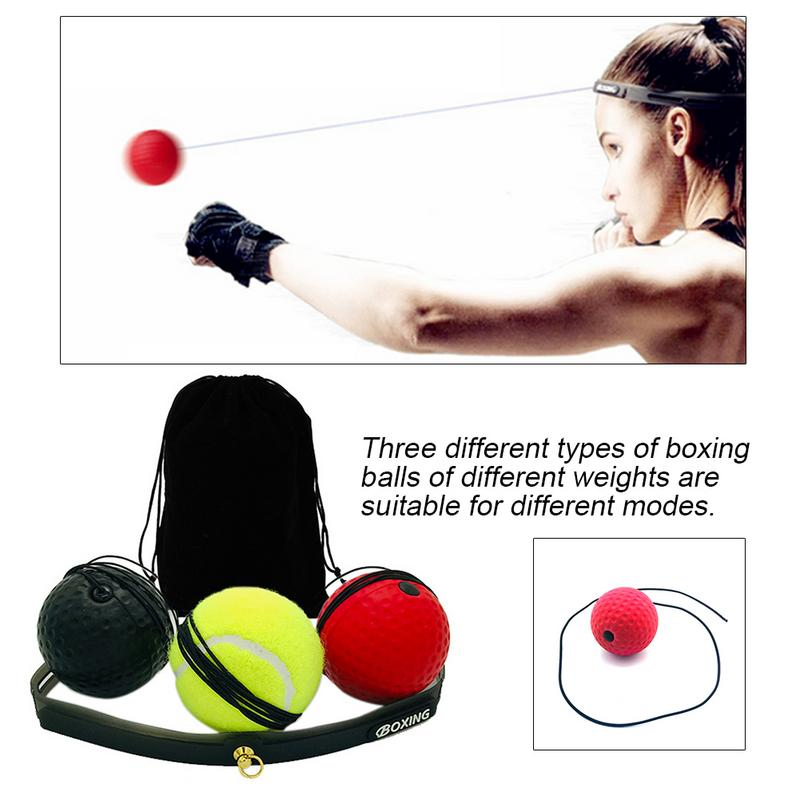 Boxing Reaction Balls Set For Boxing Speed Training Boxing Vent Ball Silicone Sweat Headband Fitness Equipment For Men And Women