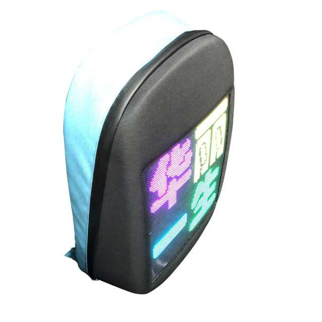 Dynamic LED Screen Display Backpack DIY Wireless Wifi APP Control  Advertising Backpack Outdoor LED Walking Billboard Backpack