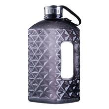 Soffe Diamonds 1/2 Gallon Water Bottle Bpa Free 2.2L Large Capcity Shaker Protein Plastic Sport Water Bottles Gym Fitness Kettle