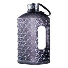 Soffe Diamonds 1/2 galones botella de agua Bpa gratis 2.2L gran Capcity Shaker proteína plástico deporte agua botellas gimnasio Fitness hervidor