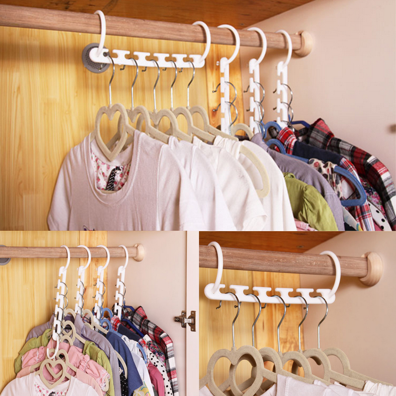 1PC New Save Space Hangers Clothes Hanger Magic Hanger Magic Household Multifunction Fold Plastic High Quality Non-slip Useful