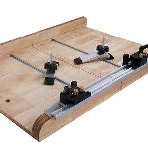 Image 3 - NE 800 /1000 /1220mm T 트랙 T 슬롯 스케일 바 테이블 톱 목공 워크 벤치 도구 알루미늄 합금 트랙 지그 픽스쳐 T 슬롯