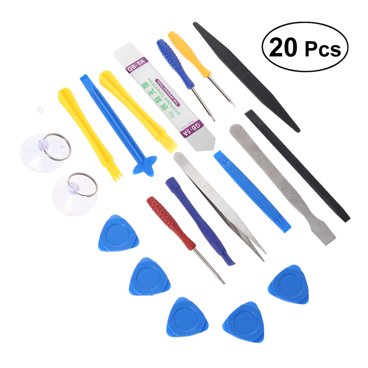 20 Pcs/ Set Disassembly Maintenance Phone Repair Kit Set for Repairing Laptop PC Notebook Computer Electronics and More