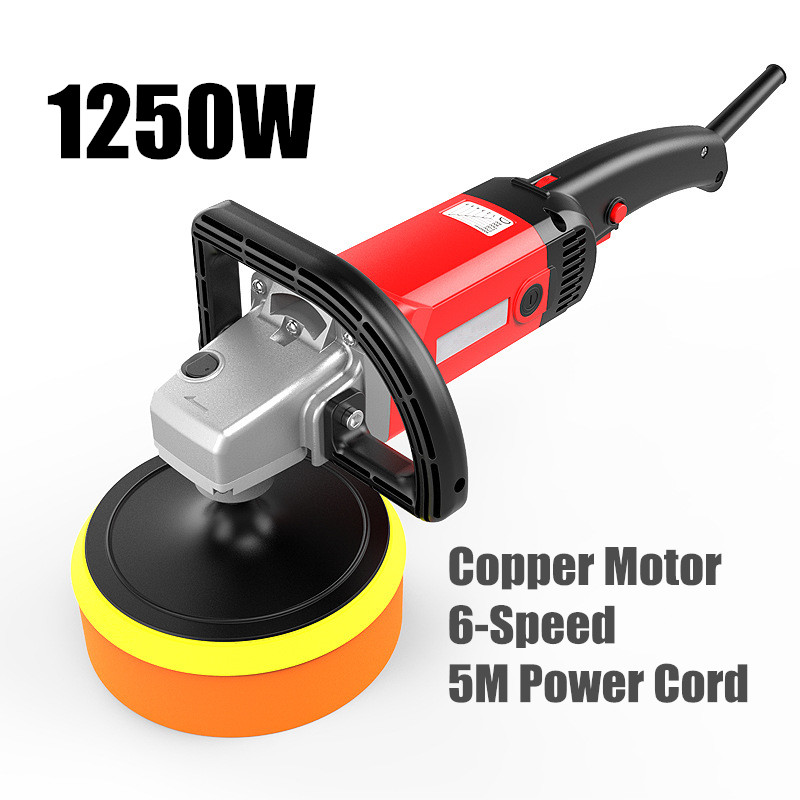 Heavy Duty Electric Car Polisher Variable Speed Waxer Sander Tools Buffing Machine Floor Cleaning Polishing Tool spta 4 100mm genuine wool buffing ball polishing pad ball hex shank turn power drill or impact driver high speed polisher