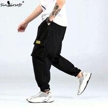 2019 new casual sports pants goods large pockets loose black pants men's harem pants men's street jogging pants M-XXXL
