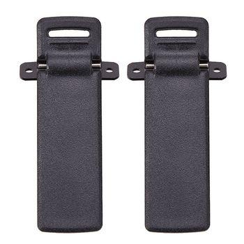 2 sztuk Walkie Talkie część zamienna tylny pas klip dla Baofeng 2-drożny Radio UV5R dla Baofeng domofon UV5R / 5RA / 5R + / 5RB / 5RC