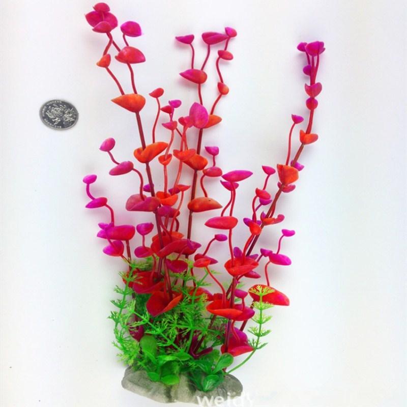 1 pc 33 cm Aquarium Aquarium plantes Aquarium décoration plantes Simulation plastique fleurs Aquarium aménagement paysager décorations - 2