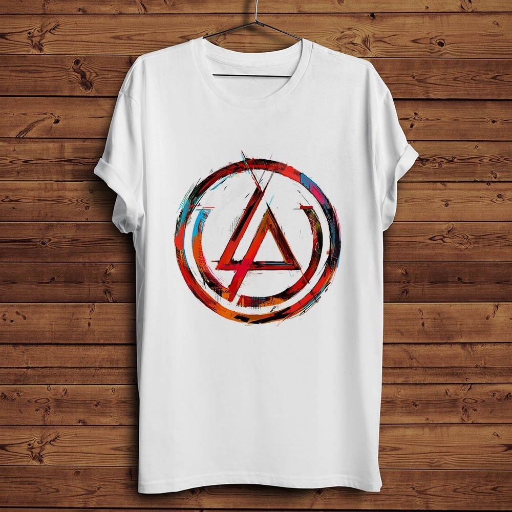 Linkin Park Chester Bennington Artistic   t     shirt   men summer new white casual homme cool tshirt street wear