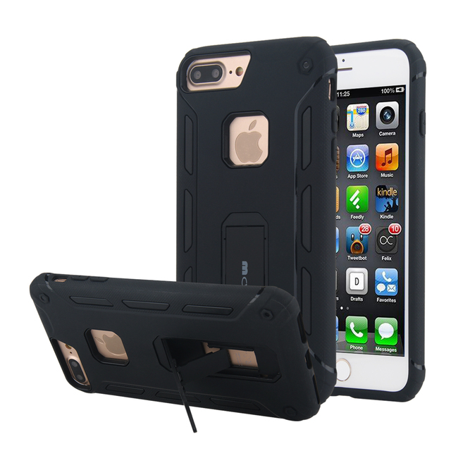 new product 46f91 8701a US $1.52 |0.99 big sale For iPhone 7 Plus 8 Plus Case Armor Hybrid 2 in 1  Soft TPU+Hard PC Dual Layer Shockproof Cover For iPhone 8 Plus-in Fitted ...