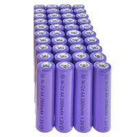 40pcs AA Ni Cd Rechargeable Battery 2800mAh 1.2v Garden Solar Light Purple