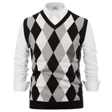 Mens Sleeveless V-Neck Pullover Vest Knitwear Sweater Themal Fall Winter Tops