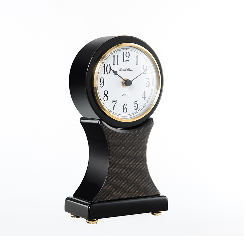 10 Inch Wooden Mute Quartz Desktop Clock Art Creative Home Office Decoration Silent Timepieces Easy To Read Battery Operated