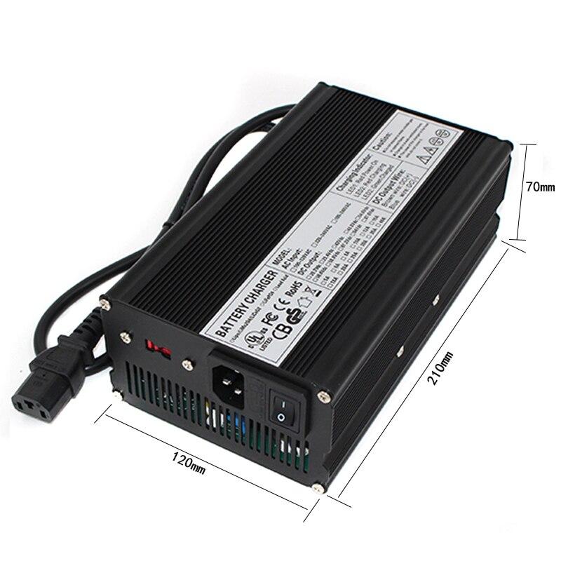 Cargador 29,4 V 18A para 7 S lipo/polímero de litio/paquete de baterías Li ion cargador inteligente soporte CC/ CV modo 4,2 V * 7 = 29,4 V - 6